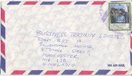 Jamaica Air Mail Cover Sent To England 1987 Single Stamped - Jamaica (1962-...)