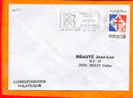 MANCHE, La Glacerie, Flamme SCOTEM N° 1990, Année Du Cheval - Marcophilie (Lettres)