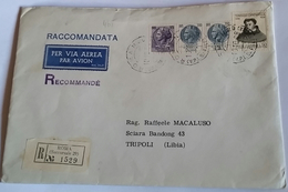 ITALIA 1967 - (283) RACCOMANDATA PER LA LIBIA POSTA AEREA