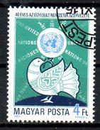 HONGRIE. N°3005 De 1985 Oblitéré. 40 Ans De L'ONU/Colombe.