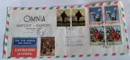ITALIA 1967 - (290) LETTERA ESPRESSA PER LA LIBIA POSTA AEREA