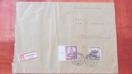 DR: R-Fern-Doppel-Brief 21,5x16,2 Mit 40+35 Pfg WHW 1940 In MiF Aus Aschersleben (385) Nach Halle V. 29.4.41 Knr: 759 Ua - Deutschland