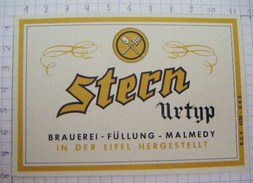 ETIQUETTE  STERN URTYP BRASSERIE DE MALMEDY- 2 - Beer