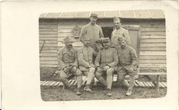 GROUPE  DE  MILITAIRES    SUR  LE  FRONT  EN  1914  18 - Guerre 1914-18