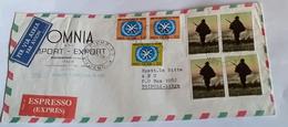 ITALIA 1967 - (295) LETTERA ESPRESSA PER LA LIBIA POSTA AEREA