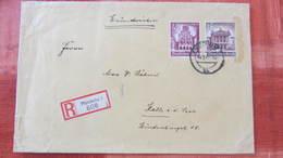 DR: R-Fern-Brief 20x13 Mit 40+35 Pfg WHW 1940 In MiF Aus Pforzheim (608) Nach Halle V. 14.12.40 Knr: 759 Ua - Briefe U. Dokumente