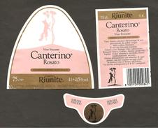 ITALIA - Etichetta Vino ROSATO CANTERINO Cantina RIUNITE Di Reggio Rosato Dell' EMILIA-ROMAGNA - Volpe - Vino Rosato