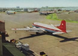 Tokyo Japan Haneda Airport, Propeller Planes On Tarmac Near Terminal Building, C1950s/60s Vintage Postcard - Aeródromos
