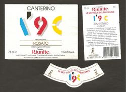 ITALIA - Etichetta Vino CANTERINO LE BOTTIGLIE DEL MONDIALE 1990 Cantina RIUNITE Di Reggio Rosato EMILIA-ROMAGNA - Volpe - Vino Rosato