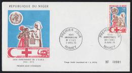 NIGER (1973) Nurse Treating Patient*.  FDC.  WHO 25th Anniversary.  Scott No 272, Yvert No 275. - Niger (1960-...)