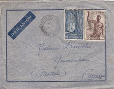 LETTRE AEF. 28 MAI 1946. BRAZZAVILLE POUR MARMANHAC CANTAL - A.E.F. (1936-1958)
