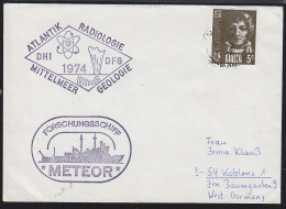 """MALTA (1974) Scientific Research Ship """"METEOR""""*.  Envelope With Thematic Handstamps."""