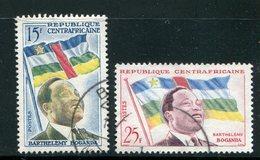 CENTRAFRICAINE- Y&T N°1 Et 2- Oblitérés