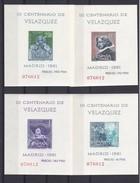 1344-47 COLECCION DE 4 HOJITAS DEL VELAZQUEZ DEL AÑO 1961 NUEVOS SIN CHARNELA - 1961-70 Nuevos & Fijasellos