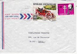 République Centrafricaine, Timbre Sur Lettre, Renault 1906 Et Robert Koch, La Tuberculose
