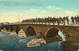 Pays Div-ref J31- Macedoine - Skoplje - Le Pont Sur Vardar De Car Douchan  - Carte Bon Etat   - - Macedonia