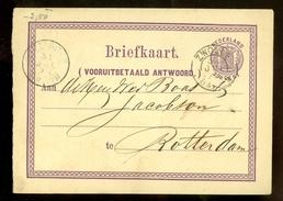 HANDGESCHREVEN  BRIEFKAART Uit 1874 Gelopen Van ZWOLLE Naar ROTTERDAM   (10.633h) - Material Postal