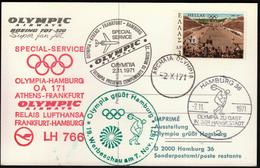 Greece 1971 /  Olympic Airways OA 171 And Lufthansa LH 766 / Athens - Frankfurt - Hamburg
