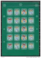 Feuille De Vignettes De Noël Des Iles Aland 2001 Neuve
