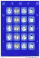 Feuille De Vignettes De Noël Des Iles Aland 2002 Neuve