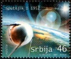 Serbia 2007 50 Years Anniversary SPUTNIK I, Space, Astronomy, Russia, MNH - Space