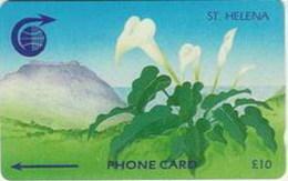 ST. HELENA : STH-08 £10   Arum Lilly   3CSHD USED - St. Helena Island