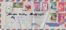 LETTRE VIET-NAM. 19 8 1956. SAIGON POUR NICE FRANCE - Vietnam