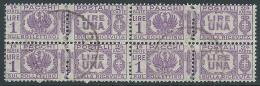 1927-32 REGNO USATO PACCHI POSTALI  1 LIRA QUARTINA - Z21