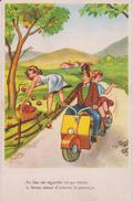 Humour :  Moto  Vespa : Au Lieu De  Regarder  Ce  Qui Traine , Tu Ferais Mieux D Admirer Le  Paysage - Humor