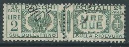 1927-32 REGNO USATO PACCHI POSTALI 2 LIRE - Z5-7