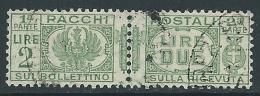 1927-32 REGNO USATO PACCHI POSTALI 2 LIRE - Z5-8