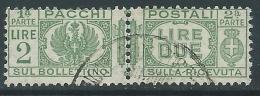 1927-32 REGNO USATO PACCHI POSTALI 2 LIRE - Z6-4