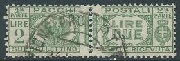 1927-32 REGNO USATO PACCHI POSTALI 2 LIRE - Z6-7