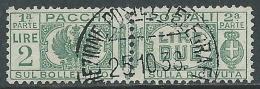 1927-32 REGNO USATO PACCHI POSTALI 2 LIRE - Z6-8