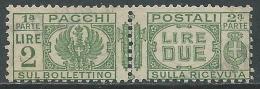 1927-32 REGNO USATO PACCHI POSTALI 2 LIRE - Z7