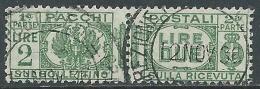 1927-32 REGNO USATO PACCHI POSTALI 2 LIRE - Z7-2
