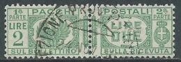1927-32 REGNO USATO PACCHI POSTALI 2 LIRE - Z7-4