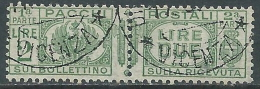1927-32 REGNO USATO PACCHI POSTALI 2 LIRE - Z7-7