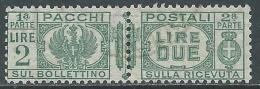 1927-32 REGNO USATO PACCHI POSTALI 2 LIRE - Z8