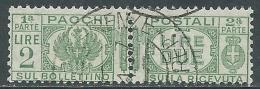 1927-32 REGNO USATO PACCHI POSTALI 2 LIRE - Z8-3