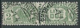 1927-32 REGNO USATO PACCHI POSTALI 2 LIRE - Z8-5