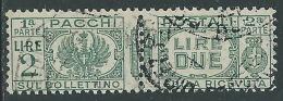 1927-32 REGNO USATO PACCHI POSTALI 2 LIRE - Z8-6
