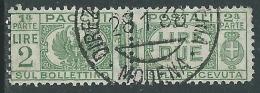 1927-32 REGNO USATO PACCHI POSTALI 2 LIRE - Z8-9
