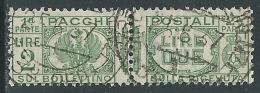 1927-32 REGNO USATO PACCHI POSTALI 2 LIRE - Z9-7