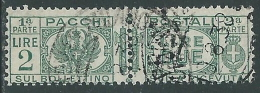 1927-32 REGNO USATO PACCHI POSTALI 2 LIRE - Z10-6