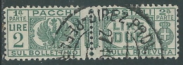 1927-32 REGNO USATO PACCHI POSTALI 2 LIRE - Z11