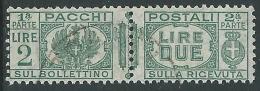 1927-32 REGNO USATO PACCHI POSTALI 2 LIRE - Z11-5