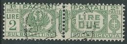 1927-32 REGNO USATO PACCHI POSTALI 2 LIRE - Z11-6