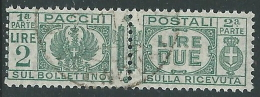 1927-32 REGNO USATO PACCHI POSTALI 2 LIRE - Z11-7