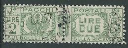 1927-32 REGNO USATO PACCHI POSTALI 2 LIRE - Z12-2
